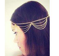 Wholesale Gothic Headdress - Big Discount 2015 New VIp Seller Fashion Gothic Women Ladies Crown Head Chain Headpiece Headdress Headwrap Hair Chain Jewelry #71138