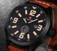 Wholesale Calendar Accessories - Brand Men Watches Luxury Genuine Leather Waterproof Men's Quartz Watch Date Calendar Clock Casual Wristwatches Men Accessories