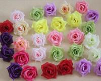 Wholesale Silk Flower Peony Centerpieces - Silk Rose Flower Heads 100pcs Fake Flowers Camellia Peony Dia 7-8cm DIY Bridal Bouquet Wedding Centerpieces Artificial Decorative Flowers