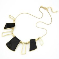 Wholesale Indian Costume Dress - 2015 New arrival fashion costume jewelry romantic black enamel Chokers necklaces women dress gift necklace