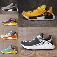 Pas cher Hu NMD HUMAN RACE Trail boost homme Chaussures de course pour hommes ultra boost nmds Runner Mens womens Automne hiver Run Sport baskets