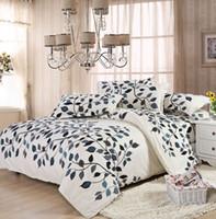 kraliçe yatak ücretsiz gönderim toptan satış-Aşk çiçekler desen yatak setleri lüks, nevresim çarşaf yastık kılıfı dahil, kral kraliçe tam boy, ücretsiz kargo