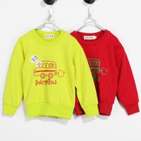 Wholesale Kids Free Sweater Patterns - Wholesale-2015 new autumn children's clothing boys and girls sweater coat,kids casual letter Bus Pattern sweater Pullover,free shipping