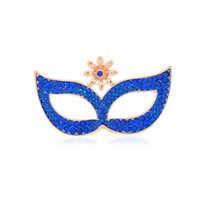 Wholesale Mask Brooches - OL fashion jewelry diamond fashion high-grade mask brooch pin brooch lovely playful