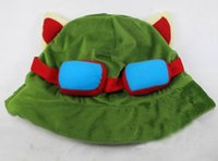 Wholesale teemo cosplay online - LOL Hot Game League of Legends Teemo Hat Cosplay Cap Warm by EMS