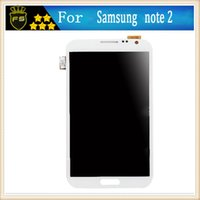 Wholesale Note2 Glass White - Samsung Galaxy note2 LCD Display Panel white and Grey Full New Touch Screen Digitizer Glass Assembly Replacement