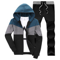 Wholesale Mens Sports Track Suits - Wholesale-Man Brand Tracksuit 2016 Hot Sell Sweatshirt Luxury Winter Mens Track Suits Thick Hoodies Casual Sports Sets Clothes LC-D2001