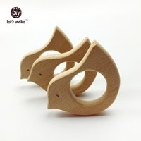 Wholesale Wholesale Eco Products - Wholesale-DIY Pendent Hand Cut Birds Eco-friendly 10pcs Wooden Birds Teether Natural Beech Wooden Product