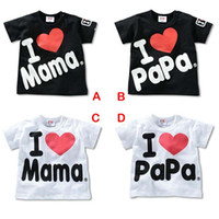 Wholesale Melee Clothing - 2015 NEW MeLee 100% Cotton I love Mom Dad T-shirt Baby Romper Gifts Baby Clothes B001