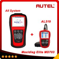 Wholesale Data Stream Reader - Original Autel Maxidiag Elite MD703 With Data Stream Function USA Vehcles for All System Update Online + AL319 as gift