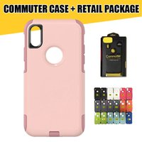 Wholesale Iphone Cover High Quality - Commuter Hybrid Case for iPhone X 8 High Quality Shockproof TPU+PC Phone Case Cover for iPhone 7 Galaxy S8 S8Plus with Retail Packaging