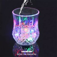 Caliente LED Party copas de beber Drinkware Flashing pequeño LED Shot Cup intermitente cola copas Bar Supplies Navidad Decoración de las fiestas Free Ship