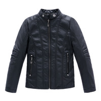 Wholesale Winter Leather Coats For Sale - new gentleman Winter boy leather jacket solid black zipper PU jacket coat for 3-12yrs boys infantil children outerwear clothes hot sale