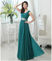 Wholesale One Shoulder Prom Dress Watermelon - 2017 long Prom dresses Evening Gowns Backless A-Line Sweetheart White Grey Blue Lilac Green Pink Watermelon Long Formal Party Dress