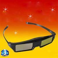 Wholesale Optoma 3d For Glasses - Bluetooth 3D Active Shutter Glasses DLP Link Projectors 3D Glasses For Optoma Sharp LG Acer BenQ Projectors Gafas 3D