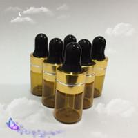 Wholesale Deodorant Bottles - 100 pcs 2ml Amber Small Glass Dropper Bottles For Essential Oil,Perfume Sampling, Deodorant bottle