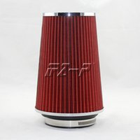 Wholesale Race Car Filters - hot sale neck 101mm turbo high flow racing cold air intake washable mushroom head air filter car air filter free shipping