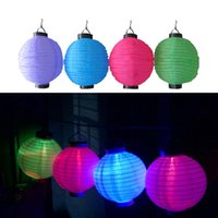 ingrosso lanterna principale cinese-Nuovo 8 '' 12 '' Lanterne solari solari Lanterne cinesi Lampade Solare di Natale Luce String Light Per Wedding Yard Garden Park Light