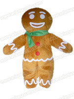 Wholesale Gingerbread Man Mascot Costumes - AM0642 Gingerbread Man mascot costume Fur mascot Cartoon Character mascot suit