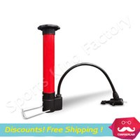 Wholesale Floor Bicycle Pump - Free shipping Mini Inflator Portable bicycle Inflator high pressure pump Football&Basketball inflator Specials