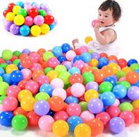 ingrosso giocattoli a sfera per i bambini-100pcs / lot Eco-Friendly colorato plastica morbida piscina di acqua Ocean Wave Ball Baby Giocattoli divertenti Stress Air Ball Outdoor Fun Sport per bambini