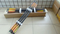 Wholesale bows for arrows for sale - Group buy 12 of carbon crossbow arrow and bolts for hunting crossbow inches length with orange and yellow arrow vane
