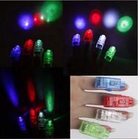 Wholesale Plastic Colour Ring - LED finger light Dazzle Colour Laser Emitting Finger Ring Beams Wedding Party Christmas Celebration Gifts