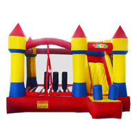 Wholesale Bouncy Houses - YARD Home use inflatable castle bouncy castle jumping castle bounce house combo slide moonwak trampoline toys with blower