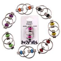 Wholesale stress relieving metal for sale - Fidget Spinner Key Ring Chain Fidget Toy Idle Hands Relieve Stress Hand Fidget for Autism ADHD and Autism Boredom your Finger Tips