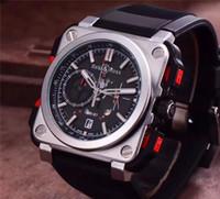 Wholesale Bell Clocks - Swiss brand BELL ROSS watch men's luxury Sports BR Watch fashion High quality men's Watches clock quartz Mechanical watch AAA Relogio