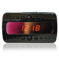 Wholesale Video Alarms - V26 IR Clock Camera Full HD 1080P Black Night Vision Alarm Mini DVR DV Video Recorder With Motion Detection Remote Control