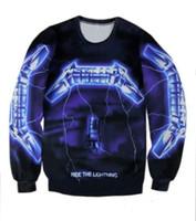 Wholesale Over Shirt Women S - New Styles Metallica Ride the Light Women Men Sweatshirt Unisex Sweats Couples Tee 3D All Over Print Tops Casual shirt Full T Shirt W331