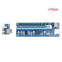 pci e 1x riser al por mayor-Freeshipping 10pcs USB 3.0 PCI-E Express 1X a 16X Extender Riser Card Adaptador PCI Express 6Pin DC-DC Adaptador de cable para BTC Bitcoin Mining