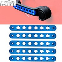 Wholesale pulley accessories online - Blue Door Handle Inserts Front Rear Aluminum Grab Handle Cover Trim for Jeep Wrangler JK Unlimited Accessories Door D