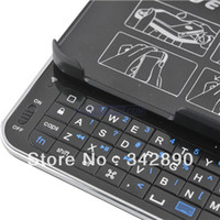 Wholesale-Sliding Out drahtlose Bluetooth-Tastatur-Tastatur-Kasten-Abdeckung für iPhone 5 schwarz