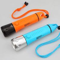 lanterna de mergulho tático venda por atacado-Frete Grátis Fitech IP68 lanterna de mergulho profissional 3X18650 tático lanterna subaquática 100 m lanterna led 800lm Modos USB