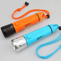 kostenlose tauch-taschenlampe großhandel-Gratis Versand Fitech IP68 professionelle Tauchen Taschenlampe 3X18650 taktische Taschenlampe Unterwasser 100m Taschenlampe LED 800lm Modi USB