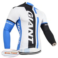 bicicletas hombre al por mayor-Giant Pro Team Men's Cycling Thermal Fleece jersey Camisa de manga larga en bicicleta Ropa de ciclismo Ropa Ciclismo Invierno