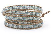 Wholesale Handmade Beaded Bracelets For Sale - Noble Elegant Women Crystal Bracelets 5 Wraps Handmade Beaded Bohemian High Quality Hot Sale Jewelry For Wholesale