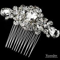 Wholesale Hair Austrian Crystal - Crystal Austrian Hair Comb Wedding Bridal Vintage Hair accessorie Women Headwear 2015 New Hot Sell