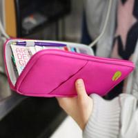 Wholesale Iphone Pouch Korean - Accessories New Travel Wallet Passport Holder Card Pouch Organizer Bag iPhone 5S Case Purse Unisex Passport lots Candy Colors Purse bg15