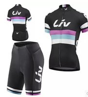Wholesale Liv Giant - Wholesale-2015 Pro giant liv woman Cycling short sleeve Jersey and shorts bike Wear Clothing Bike Ropa Ciclismo Quick Dry free shipping