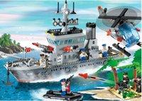 Wholesale Enlighten Aircraft - Hot enlighten 112 military aircraft carrier series 113 battlecruisers assembled toys
