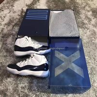 Air Retro 11 UNC Gana Like 82 Midnight Navy Men Zapatillas de baloncesto Zapatillas de deporte Jumpman 11s Calzado deportivo Real Carbon Fiber Blue White Shoes