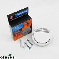 alarmas de incendio inalámbricas gratis al por mayor-Envío gratis Incendio Incendio Detector de Humo Seguridad en el Hogar Alarma de Incendio Accesorios Adicionales para Sistemas de Alarma de Seguridad GSM