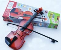 geige musikinstrumente großhandel-Simulation Violine früher Kindheit Musik Instrument Spielzeug für Kinder Kinder neue und gute Qualität heißer Verkauf