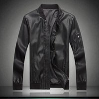 Wholesale Leather Men Coat Very - Fall-Very good quality leather jackets 2016 springtime new style men motorcycle black genuine leather jacket coat plus size M-XXXXL