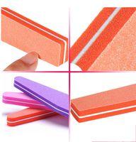 Wholesale Nail Diamond Style - Free shipping 2pcs set Nail File Buffer Styling Nail Tools Sponge Diamond Rubbing Polished Surface Hot Sale