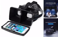 "Wholesale 3d Vedio - Ritech II Virtual Reality 3D Glasses Head Plastic Virtual Reality VR Vedio 3D Glasses for 3.5-6"" Screen Phone Google Cardboard Glasses"
