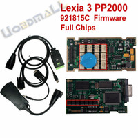 Wholesale Lexia Full Chips Original - Wholesale-PP2000 V25 Lexia3 Lexia-3 V48 Diagbox 7.66 Serial 921815C With Original Full Chip Lexia 3 PP2000 Citroen Peugeot Diagnostic Tool